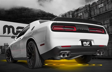 Magnaflow RACE SERIES Stainless Axle-Back Exhaust - Round Tips (2015+ 6.2L/6.4L Dodge Challenger Hellcat/Scat Pack) - 19206