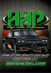 High Horse Performance Branded T-Shirt -  HHP Rob Goss Green, Short Sleeve Tee Shirt - 1604