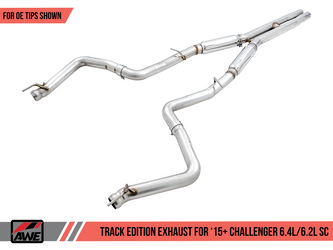 AWE Track Edition Exhaust for 15+ Challenger 6.4 / 6.2 SC - Stock Tips - 3015-11050