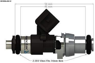 Injector Dynamics ID1050x Injector set - 1050.48.14.14.8