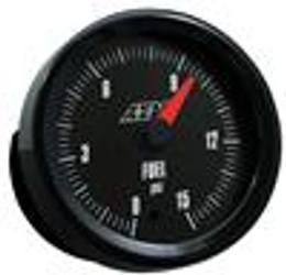 AEM Analog Boost Pressure Gauge (0 to 15 PSI) - 30-5144