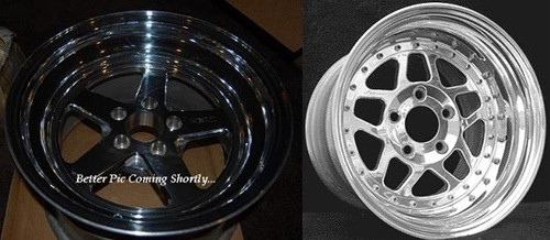HHP Ultra-Lite 3-Piece Bolted 17x5 Aluminum Front Skinny Drag Rim, LX & LC Cars HHPDRAGF