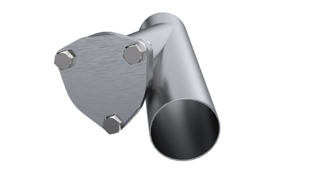 QTP 2.5in Weld-On QTEC Exhaust Cutout Y-Pipe