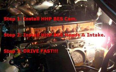HHP/BES Stage 1 Ported & Polished Heads & Intake and Custom Cam: 6.1L Jeep SRT-8 Installation Package HHP61J2CIIS