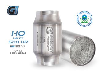 G-Sport 300 CPSI EPA Approved 2.5in Inlet/Outlet x 4in Dia Body x 7in OAL Catalytic Converter