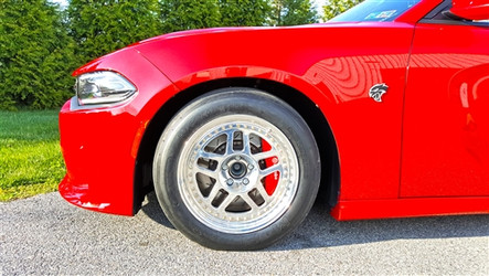 HHP Ultra-Lite 3-Piece Bolted 18x5 Aluminum Front Drag Rim (Dodge Hellcat & Demon Challenger & Charger) - HHPCATWF