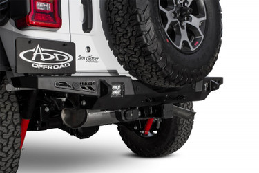 Addictive Desert Designs 18 Jeep Wrangler JL Stealth Fighter Rear Bumper w/ Backup Sensor Cutouts