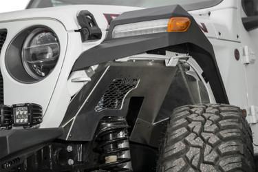 Addictive Desert Designs 2018 Jeep Wrangler JL Raw Aluminum Rock Fighter Front Inner Fender Liner