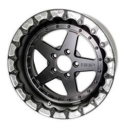 HHP Ultra-Lite 3-Piece Bolted 17x10 Aluminum Rear Drag Rim, LX & LC Cars HHPDRAGR