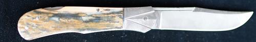 Custom Ken Steigerwalt Mammoth Ivory Lockback
