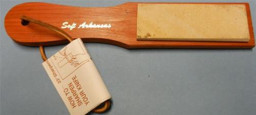 "Dan's MPM Soft Arkansas Stone on 9"" Paddle"