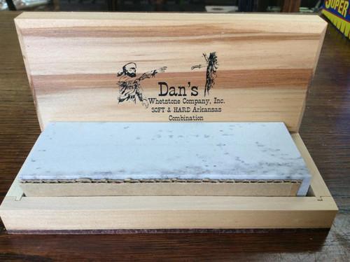 "Dan's 6"" Soft (Medium) & Hard (Fine) Combo Arkansas Bench Stone MFC-6-C"