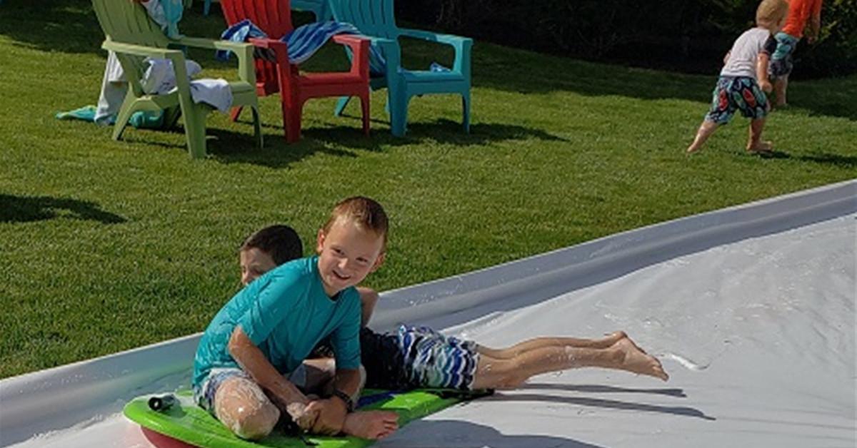 My Summer Slip-N-Slide Slip-Up