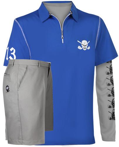 ac1baa5429f Lucky 13 Hybrid men s golf shirt