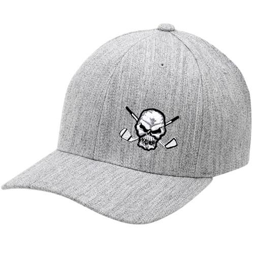 Tattoo Golf Hat Skull Design (Heather Grey) 6468476ecacb