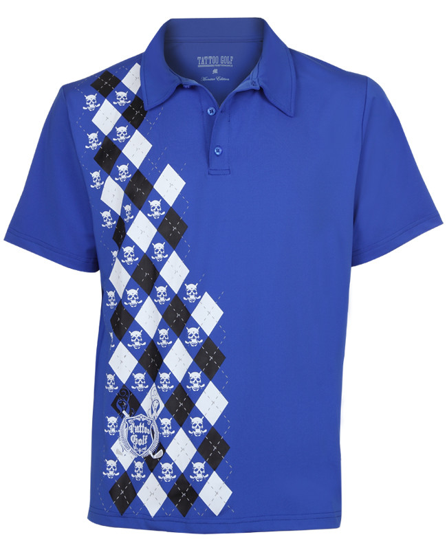 aa1d7b18c9 The Blue Monster performance men s golf shirt is lightweight and offers  superior