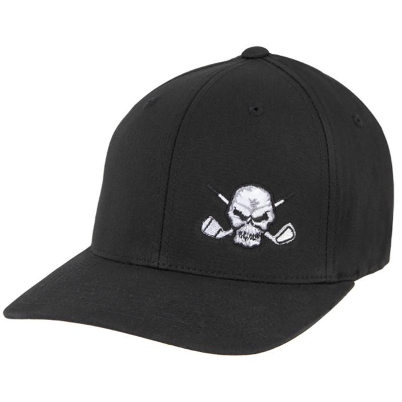 82f9d8d53b8 Tattoo Golf Hat Skull Design (Black) - Flexfit Hat