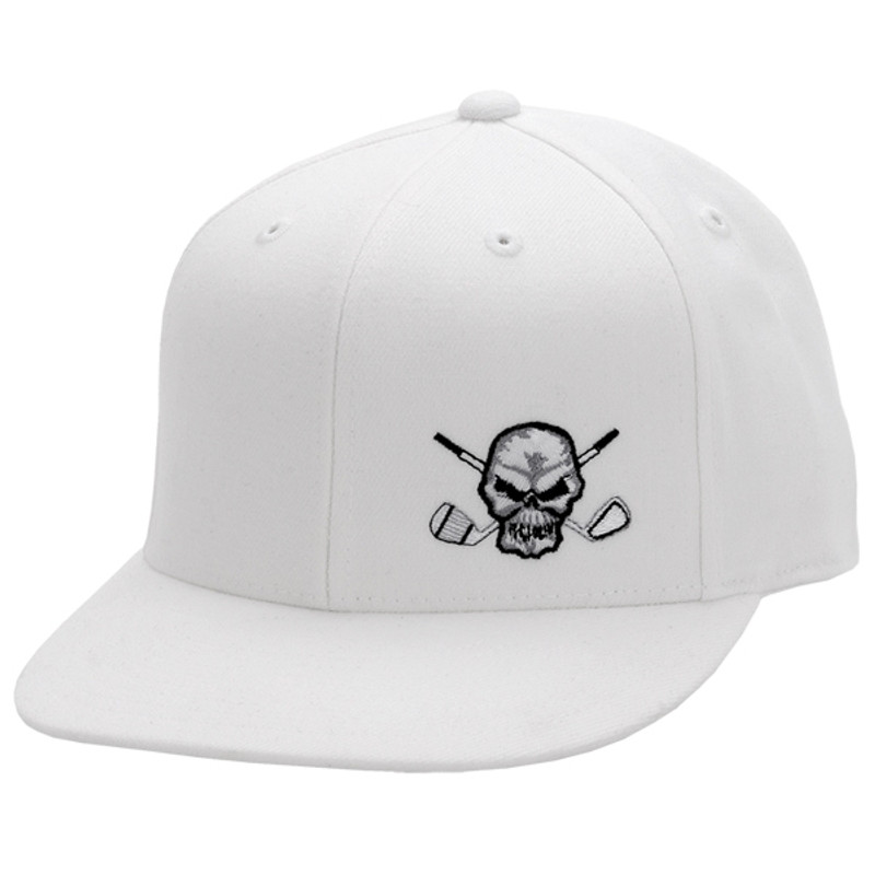 be4efc6ddd9 Adjustable FlexFit 110 flat brim golf hat. From the street to the course  and back
