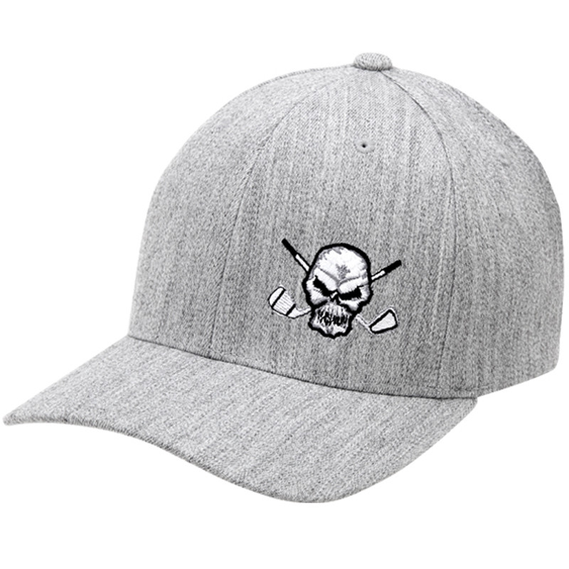 Men s golf hat is also available in solid black and white pinstripe. 619c1e9c3ad8