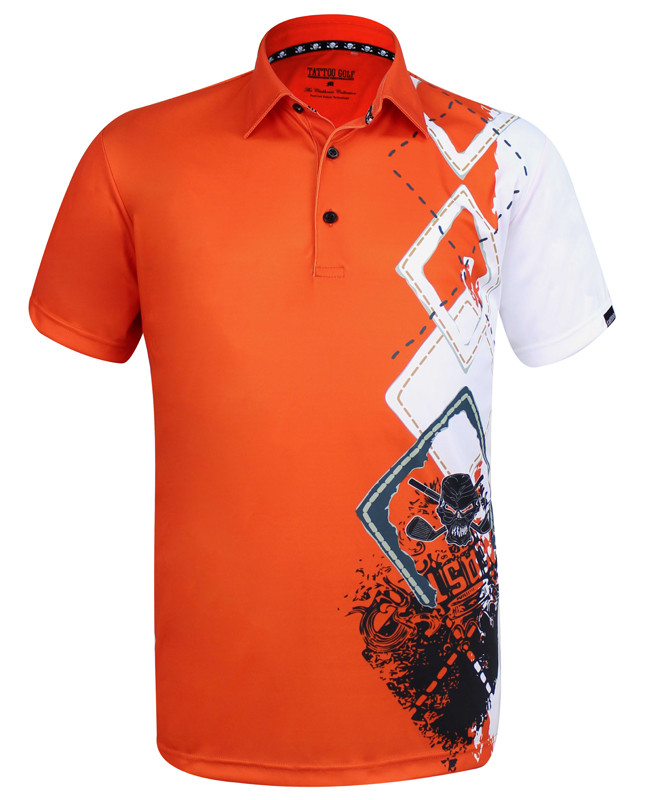 b4cdf53b97f Men s golf shirts In orange by Tattoo Golf. Comfortable fit