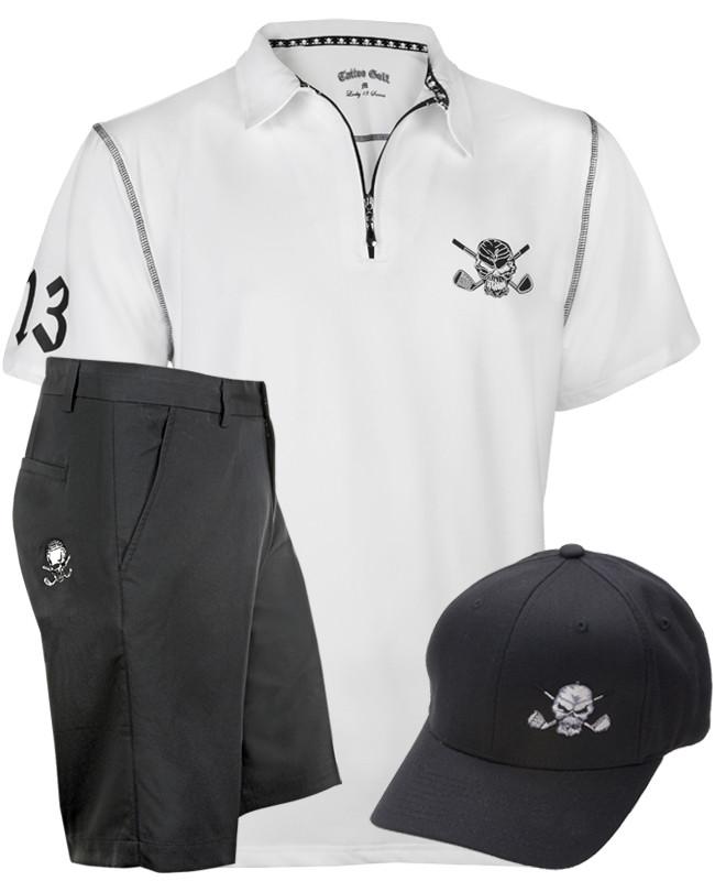 d9b94ff3933 Zipper-pull performance men s golf shirt