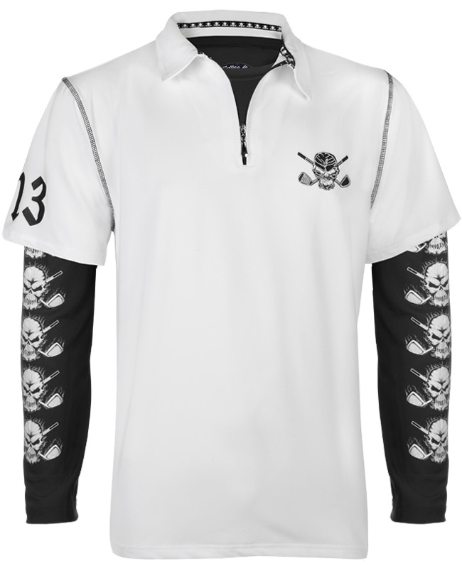 57a1b180679e Lucky 13 golf shirt with black performance underlayer shirt - sweet combo!