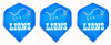 Dart flights with Detroit Lions football logo