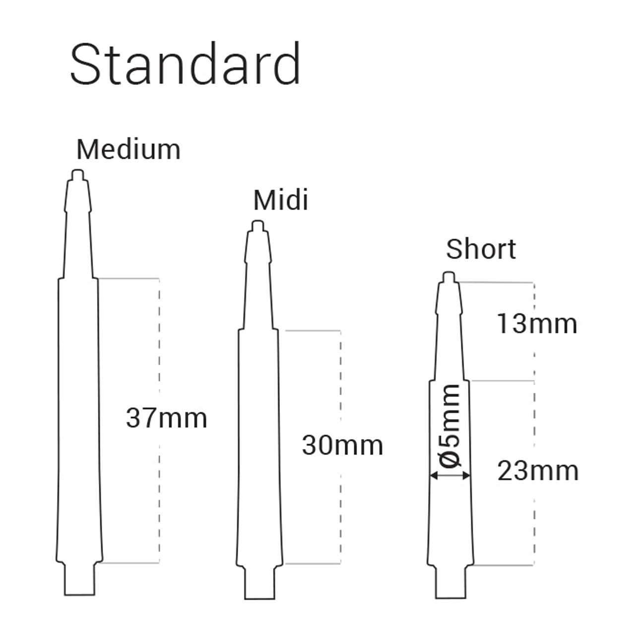 BARGAIN 10 sets darts shafts-All White SHORT length Nylon-2BA