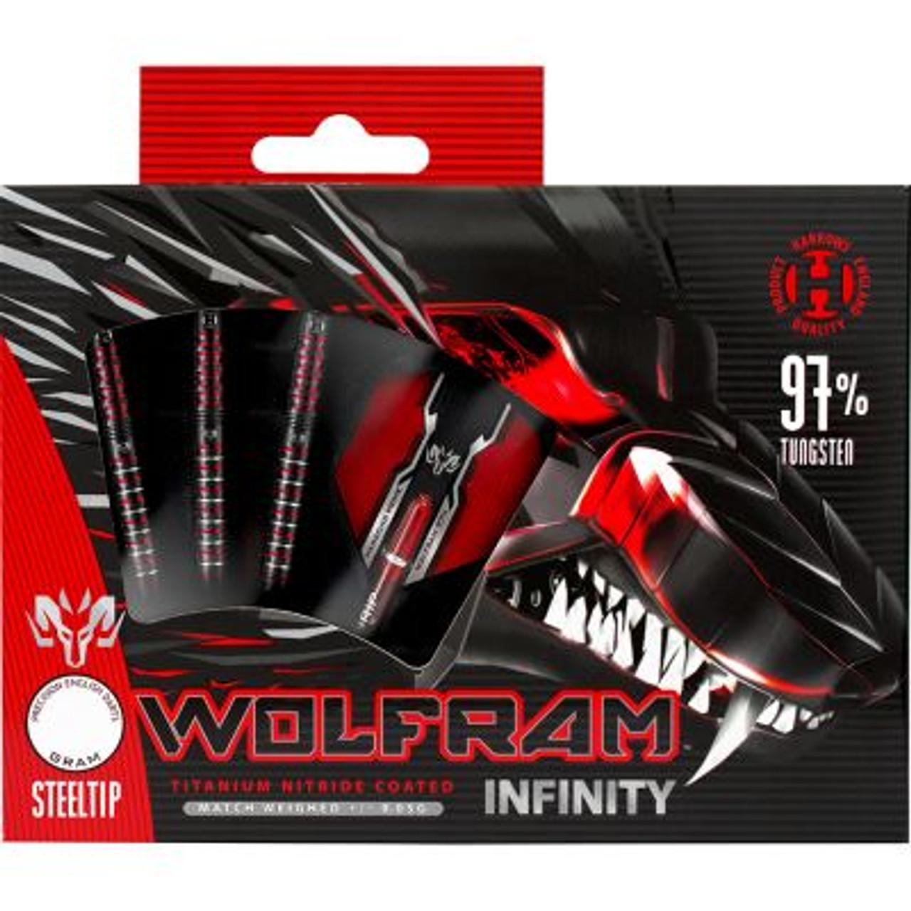 Harrows Wolfram Infinity 97/% Tungsten Steel Tip Darts Black Titanium Coating