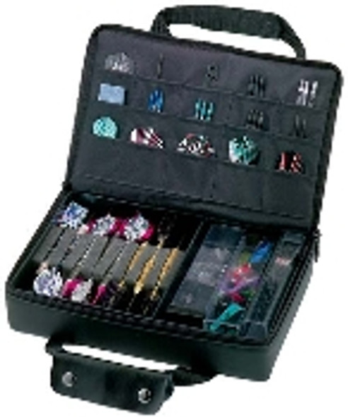 Casemaster pro dart case with three sets of darts and accessories