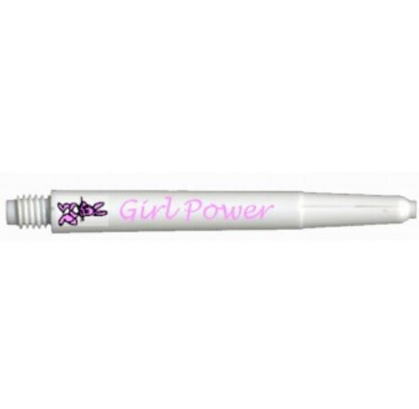 Deflectagrip GIRL POWER White Medium Nylon Dart Shafts