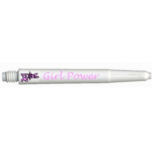 Deflectagrip GIRL POWER White Short Nylon Dart Shafts