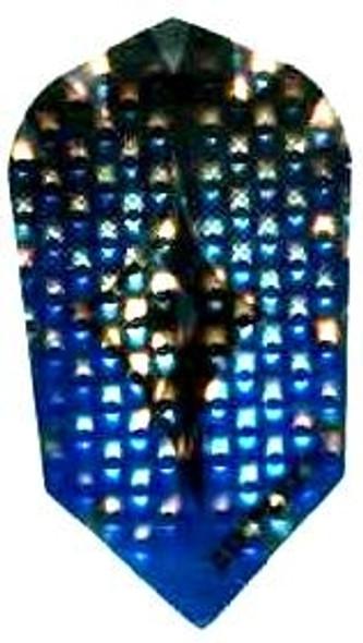 Slim Dimplex dart flight with shiny blue panels