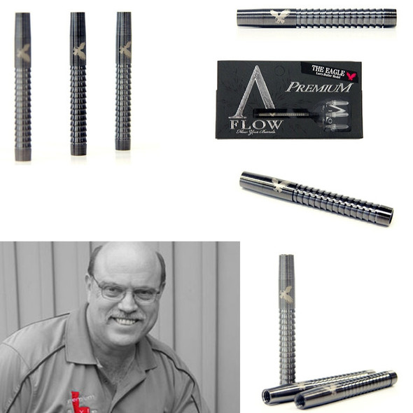 "A-Flow Larry Butler Premium ""The Eagle"" tungsten dart barrels"