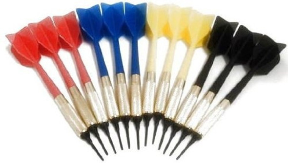 GLD soft tip bar darts in yellow, red, blue and black
