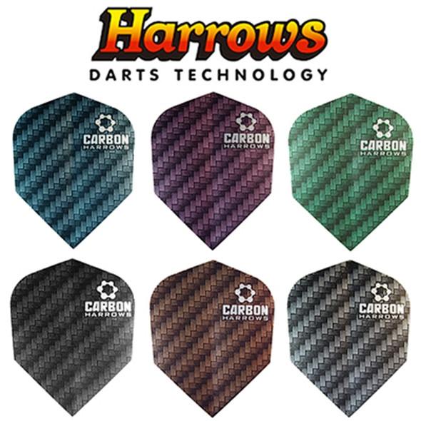 Harrows Carbon Black Standard Dart Flights
