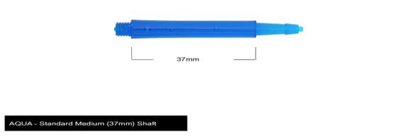 Harrows Clic Standard Medium 2ba Dart Shafts - Aqua, 37mm, 37,