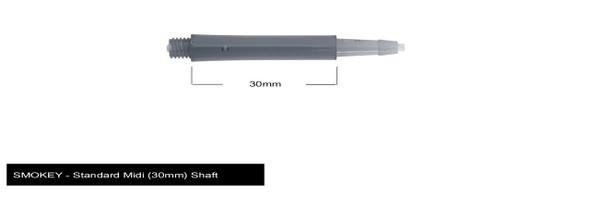Harrows Clic Standard Midi 2ba Dart Shafts - Smokey, 30mm, 30,