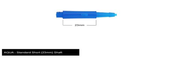 Harrows Clic Standard Short 2ba Dart Shafts - Aqua, 23mm, 23,