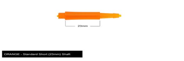 Harrows Clic Standard Short 2ba Dart Shafts - Orange, 23mm, 23,