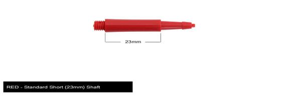 Harrows Clic Standard Short 2ba Dart Shafts - Red, 23mm, 23,