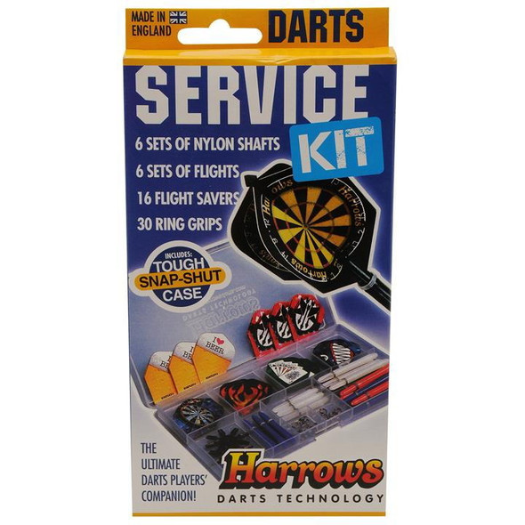 Harrows Sevice Kit - Accessory Pack, Nylon Stems, Shafts, Rings, springs, Flights, savers