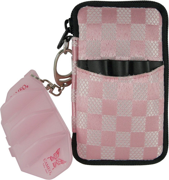 pink & white checkered Krystal Colors dart case from L-Style