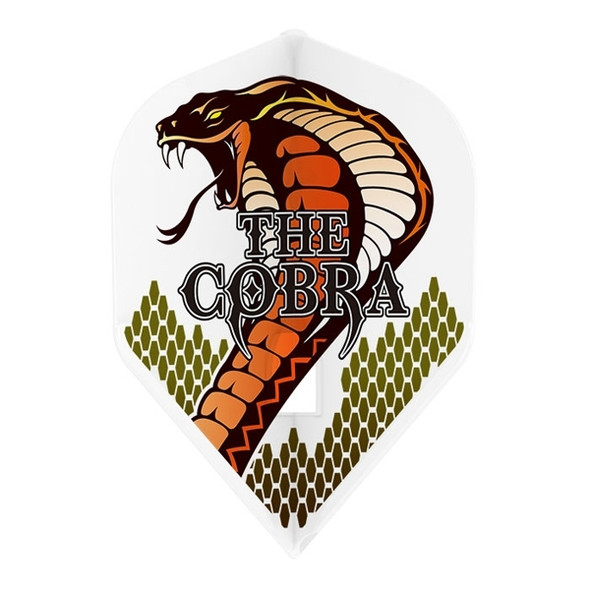 L-Style L1c Jelle Klaasen Cobra V3 Signature Champagne Flights, Standard, White, Version 3, Snake