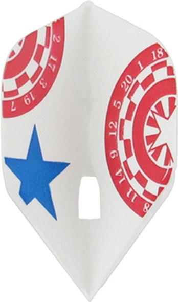 L-Style L1c Star Design Signature Champagne Flights, Standard, red, white, blue