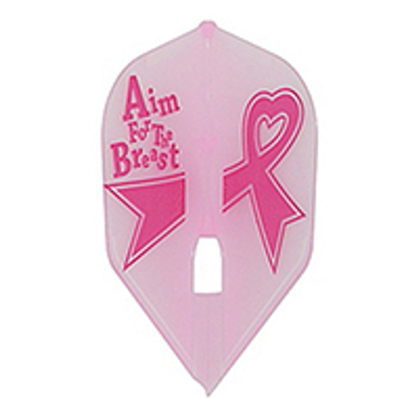 L-Style L3c Aim For the Breast Champagne Flights, Small Standard, Shape, Pink, Breast Cancer Awareness, Ribbon