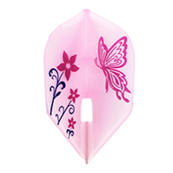 L-Style L3c Iyo Matumoto V2 Signature Champagne Flights, Small Standard, Shape, Clear White, Flower, Flowers, Butterfly