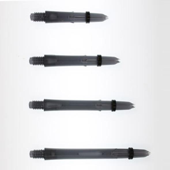 Black Laro dart shafts in four lengths