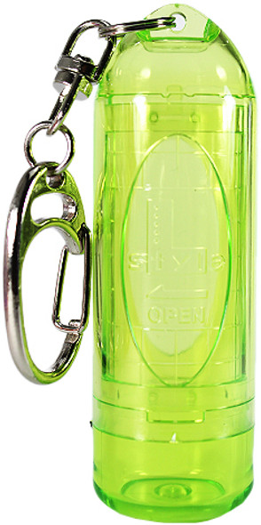 L-Style Lipstock Tip Case / Point Holder - Clear Green