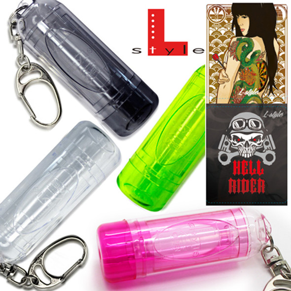 L-Style Lipstock Tip Case / Point Holder - Clear Red